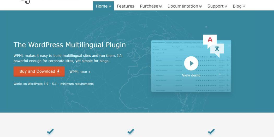 ワードプレス多言語サイト用のプラグインのサイトのトップバナー画像